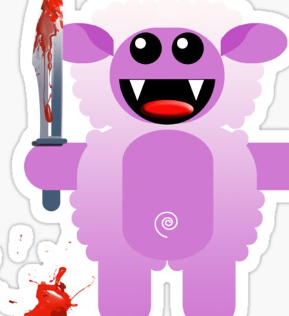 SHEEP 2 (Cute pet with a sharp knife!) Sticker