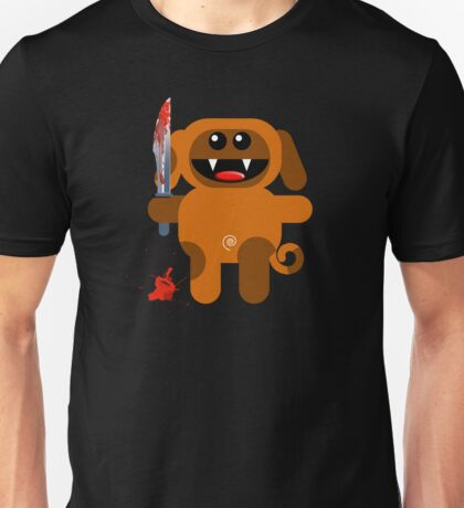 DOG 2 (Cute pet with a sharp knife!) Unisex T-Shirt