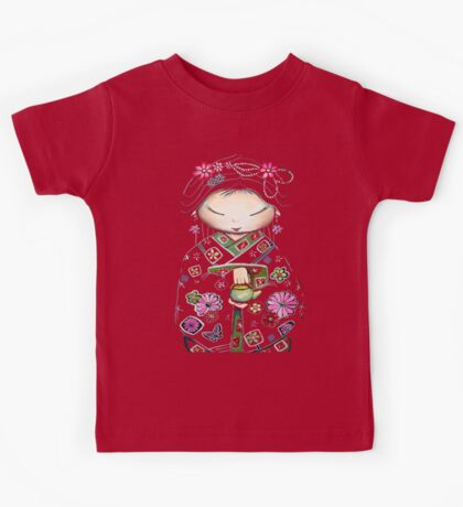 Little Green Teapot TShirt by Karin Taylor Kids Clothes
