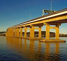 Tasman Bridge view from the Western Shore by TonyCrehan