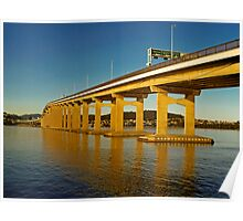 Tasman Bridge view from the Western Shore Poster