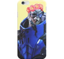 Garrus Vakarian flower crown iPhone Case/Skin
