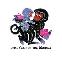 2004 Chinese Year of The Monkey Paper Cut Photographic Print