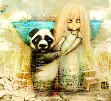 Panda and Snowdrop by © Karin (Cassidy) Taylor