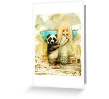 Panda and Snowdrop Greeting Card