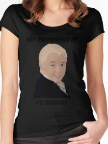 Malfoy - My Patronus Is Yo Mama Women's Fitted Scoop T-Shirt