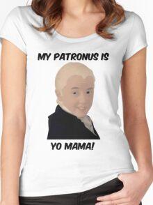 Malfoy - My Patronus Is Yo Mama Women's Fitted Scoop T-Shirt