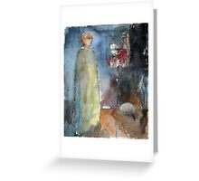 Lady in green robe Greeting Card