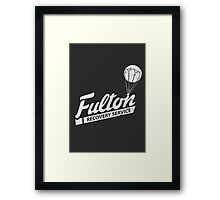 Fulton Recovery Service - White - Damaged Framed Print