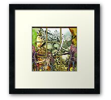 Through the square window Framed Print