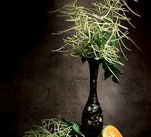 Astilbe with Cantaloupe Still Life  by Ondřej Smolka