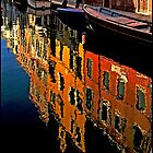 Canal Reflections Burano by ten2eight