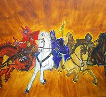 The Four Horsemen by hatoola13