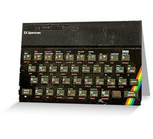The ZX spectrum Greeting Card