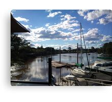Historic dockside - Mary River Canvas Print