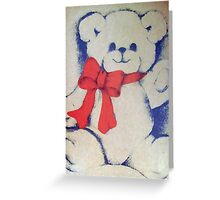 Bear with a bow Greeting Card