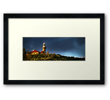 Barrenjoey Lighthouse at dusk Framed Print