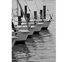 Boats in a row - Annapolis, Maryland Photographic Print