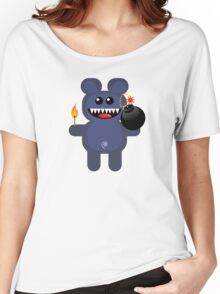 BEAR 4 (Cute pet has a bomb and its alight!) Women's Relaxed Fit T-Shirt