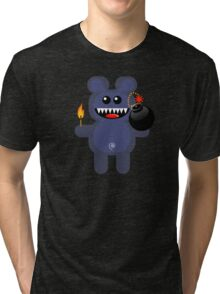 BEAR 4 (Cute pet has a bomb and its alight!) Tri-blend T-Shirt