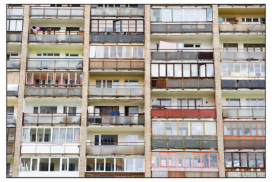 Ķengarags Windows, Rīga, Latvia. (2010) by Madeleine Marx-Bentley