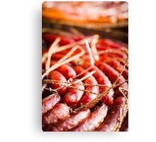 chinese sausage Canvas Print