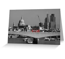 Red London Bus Greeting Card