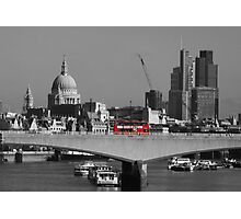 Red London Bus Photographic Print