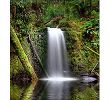 HDR Waterfall Paradise Photographic Print