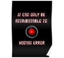 HAL 9000: Human Error Poster
