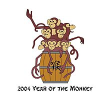 Chinese 2004 Year of The Monkey - Barrow of Monkeys Photographic Print