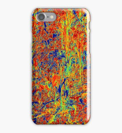 Abstract Jackson Pollock Painting Original Art Titled: Sun Dance iPhone Case/Skin