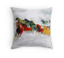 Wildness Through Snow Throw Pillow