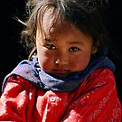 tribal girl. spiti valley, northern india by tim buckley | bodhiimages