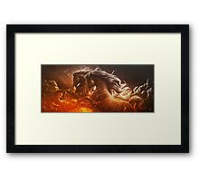 Fire with Horses Framed Print