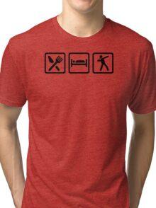 Eat sleep shot put Tri-blend T-Shirt