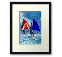 Racing Home Framed Print
