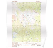 USGS Topo Map Oregon Broken Top 279148 1988 24000 Poster