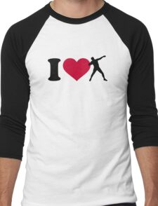 I love shot put Men's Baseball ¾ T-Shirt