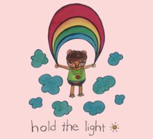 Hold the Light: Cute Hedgehog Watercolor Illustration Kids Clothes