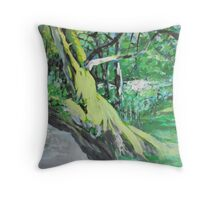 By the Bank Throw Pillow