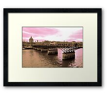 Parisian Mosaic - Piece 16 - Pink Sky Above The Ponts des Arts Framed Print