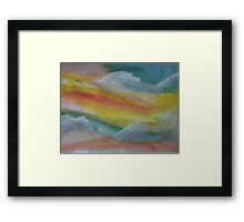 Clouds and sky, watercolor Framed Print