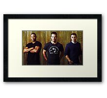 Diggle, Oliver and Roy | Arrow Season 2-3 | Team Arrow Framed Print