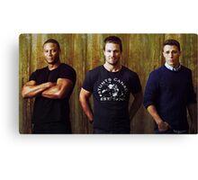 Diggle, Oliver and Roy | Arrow Season 2-3 | Team Arrow Canvas Print