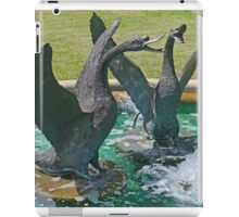 Two Swans in a Fountain iPad Case/Skin