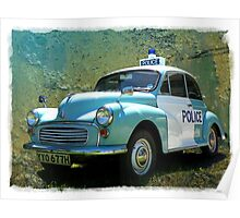 Morris Minor Police Car in Art Poster