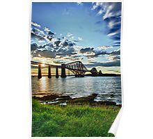 Forth Bridge HDR Sunset Poster