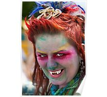 Portraits from The 2011 Coney Island Mermaid Parade-12 Poster