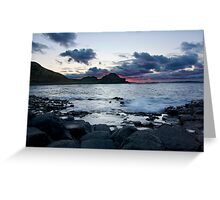 Fire in the Sky - Giants Causeway Northern Ireland Greeting Card